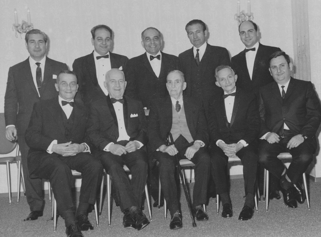 1970 - Seated left to right – Haroutune Messerlian, Mihran Palandjian, Mac Hagopian [Chairman], Neshan Arakelian, Jirair Constantian Standing left to right – Hratch Norigian, Simon Malcolm, Mihran Manaserian, Zaven Simonian, Hovaness Kouyoumdjian