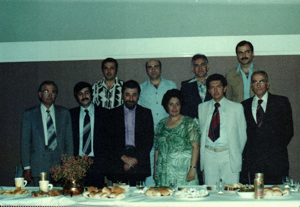 1978 - Front row left to right – Zaven Simonian, Toros Boghossian, Guest ARCHBISHOP Karekin Kazandjian, Siran Chichmanian, Ara Moushigian [Chairman], Haroutune Meserlian Back row left to right – Steve Ritlain, Hovaness Kouyoumdjian, George Dertadian, Vahe Karayan